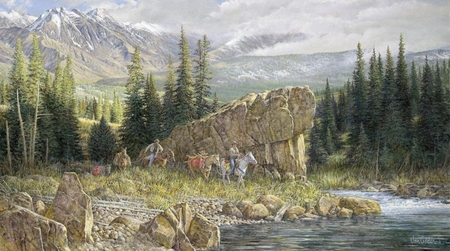 """Ron Van Gilder Limited Edition Print:""""Down From the High Country"""""""