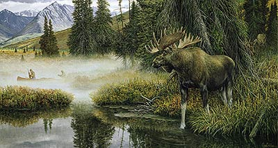 "Ron Van Gilder Limited Edition Print:""The Good Old Way-Moose"""