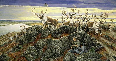 "Ron Van Gilder Limited Edition Print:""The Lucky Break-Caribou"""