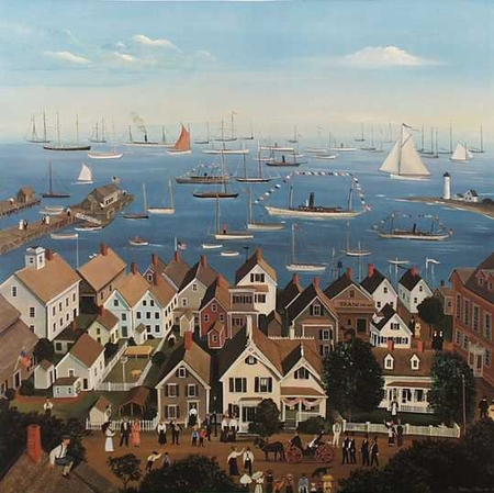 "Sally Caldwell Fisher Limited Edition Print:""Provincetown"""