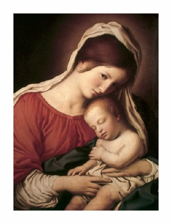 "Sassoferrato Fine Art Open Edition Giclée:""Madonna & Child (I)"""