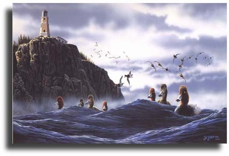 """Scot Storm Limited Edition Giclee on Paper:""""North Shore Rafters"""""""