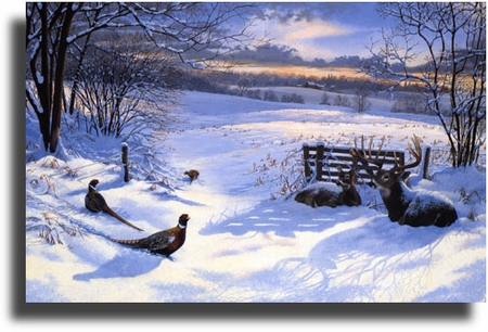 "Scot Storm Limited Edition Giclee on Paper:""Winter Retreat"""