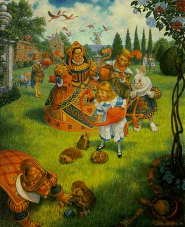 "Scott Gustafson Limited Edition Print:""The Queens Croquet Ground """