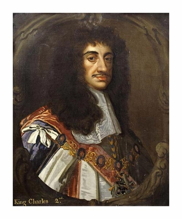 "Sir Peter Lely Fine Art Open Edition Giclée:""Portrait of King Charles II"""