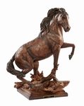 "Stephen Herrero Fine Art Sculpture:""Conquista – Horse Sculpture"""