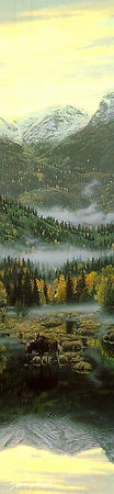 "Stephen Lyman Handsigned and Numbered Limited Edition Print:""Northern Reflections """