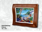 "Steve Barton Wavy Framed Limited Edition Canvas: ""Island Hideaway"""