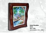 "Steve Barton Wavy Framed Limited Edition Canvas: ""Island Paradise"""