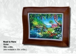 "Steve Barton Wavy Framed Limited Edition Canvas: ""Road To Hana"""