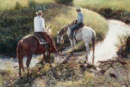 "Steve Hanks Hand Signed & Numbered Limited Edition AP :""Where the Grass is Greener"""