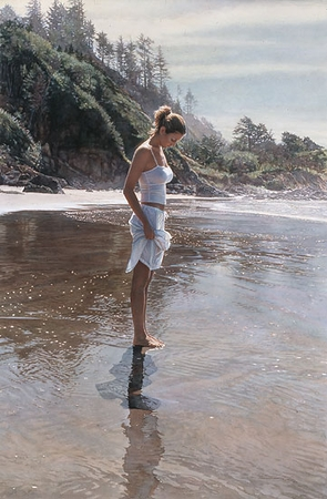 "Steve Hanks Handsigned and Numbered Limited Edition Giclee on Paper :""New Shoreline"""