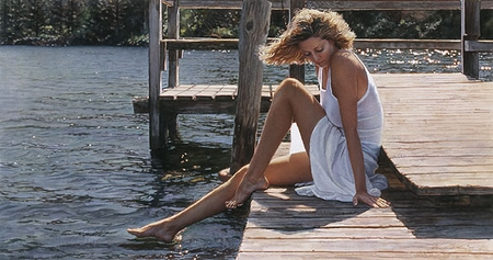 "Steve Hanks Handsigned and Numbered Limited Edition :""Nature's Touch"""