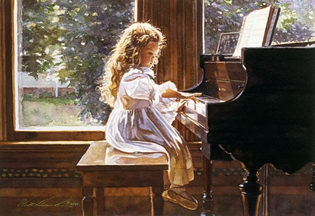"""Steve Hanks Handsigned and Numbered Limited Edition Print:""""The Sound of Tiny Fingers"""""""