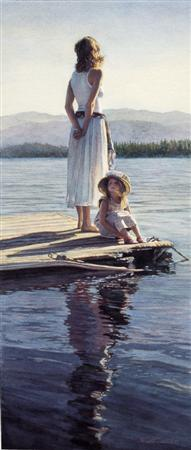 "Steve Hanks Handsigned & Numbered Limited Edition Print:""Sharing in Silence"""