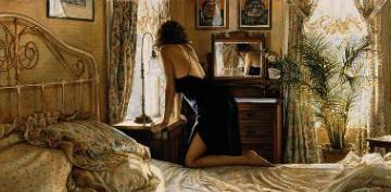 "Steve Hanks Limited Edition Artist Proof Print: ""A Moment For Reflection"""