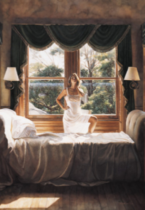 "Steve Hanks Limited Edition Print:""Savoring the Sun"""