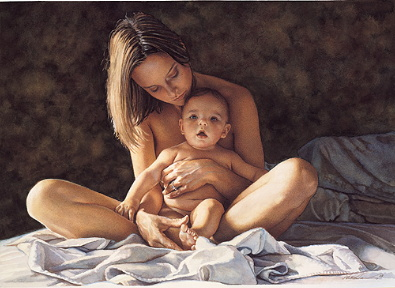 "Steve Hanks Open Edition Print:""A Mother's Pride"""