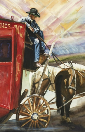 """Teddie Oatey Hand Signed and Numbered Limited Edition Giclee: """"Coca Cola Cowboy"""""""