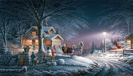 "Terry Redlin 2007 Annual Christmas Print Limited Edition (Unsingned) : ""Winter Wonderland"""