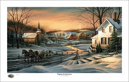 """Terry Redlin 2016 Holiday Limited Edition Print:""""Together for the Season"""""""