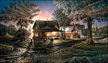 "Terry Redlin American Portrait Limited Edition: Heartfelt Firsts - ""His First Day"""