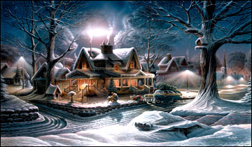 """Terry Redlin American Portrait Limited Edition:Heartfelt Firsts - """"His First Homecoming"""" - Christmas 2005 Holiday Print"""