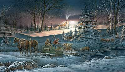 """Terry Redlin Handsigned and Numbered Limited Edition Artist Proof Print: """"A Helping Hand"""""""