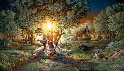 "Terry Redlin Handsigned and Numbered Limited Edition Print:""The Colours of Spring"""