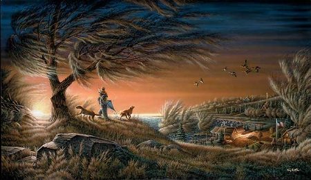 "Terry Redlin Handsigned & Numbered Limited Edition Print:""Lifetime Friends"""