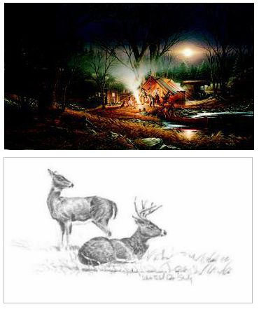 """Terry Redlin Limited Edition Print: """"Campfire Tales"""""""