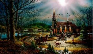 "Terry Redlin Limited Edition Print: ""God Shed his Grace on Thee"""
