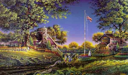 "Terry Redlin Limited Edition Print: ""Good Morning America"""