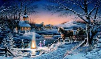 "Terry Redlin Limited Edition Print: ""Sharing The Evening"""