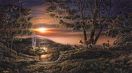 "Terry Redlin Open Edition Elite Print:"" Sharing the Sunset"""