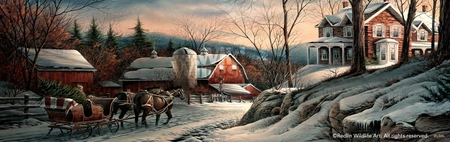 "Terry Redlin Open Edition Fine Art Print:""Coming Home"""