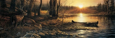 "Terry Redlin Open  Edition Horizions Collection Print:""Morning Glow"""