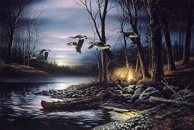 "Terry Redlin Open Edition Print:"" Evening Glow"""