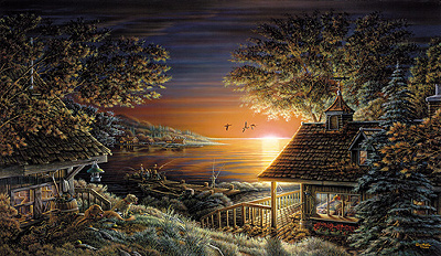 "Terry Redlin Prints: ""Sunset Retreat"" Limted Edition"
