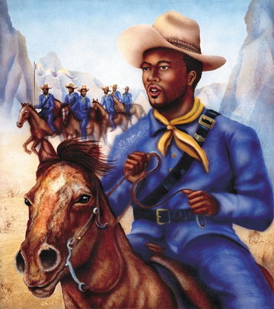 "Terry Wilson Hand Signed and Numbered Limited Edition Giclee: ""Buffalo Soldier"""