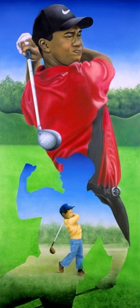 "Terry Wilson Hand Signed and Numbered Limited Edition Giclee: ""Tiger Woods"""