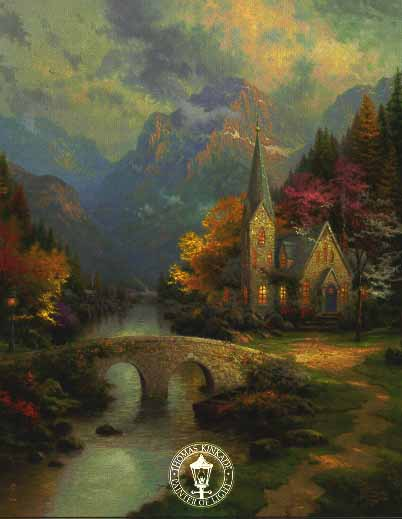 Thomas Kinkade Signed And Numbered Limited Edition Hand