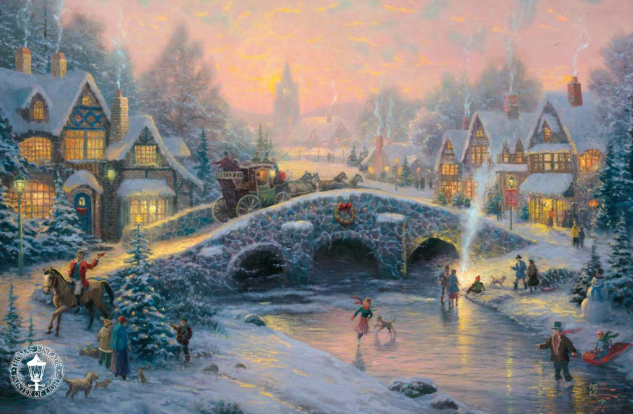 thomas kinkade signed and numbered limited edition print On thomas kinkade christmas limited edition paintings