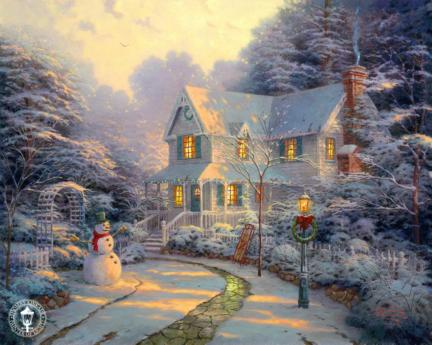 Thomas Kinkade Victorian Christmas Paintings Car Interior Design