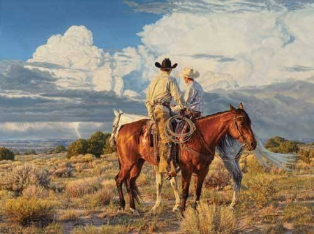 """Tim Cox Hand Signed and Numbered Limited Edition: """"Cloud Watchers"""""""