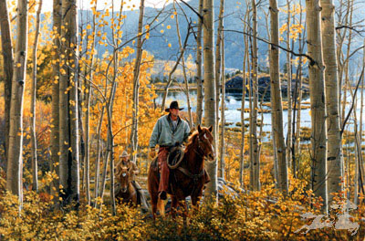 """Tim Cox Handsigned and Numbered  Limited Edition Print:""""Leaves of Gold"""""""