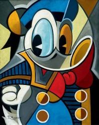 "Tim Rogerson Handsigned and Numbered Limited Edition Giclee on Canvas:""Cubist Quack"""