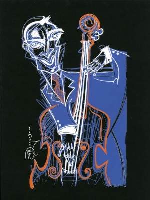 "Tim Rogerson Signed and Numbered Serigraph on Paper: ""Bass Line Blues"""