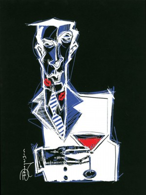 "Tim Rogerson Signed and Numbered Serigraph on Paper: ""Cocktails and Dreams"""