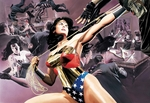 """Alex Ross Artist Signed and Numbered Limited Edition Giclee on Paper:""""Wonder Woman - Defender of Truth"""""""